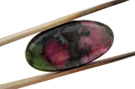 Ruby Zoisite Cabochon Stone (29mm X 15mm X 5mm) 27cts - Oval Cabochon