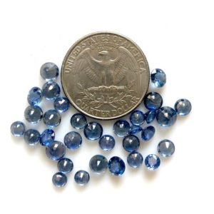 Shop Sapphire Cabochons! 2 Pieces 4.5mm To 5mm Rare Natural Blue Sapphire Round Faceted Brilliant Cut Blue Color Loose Gemstones GDS1201 | Natural genuine stones & crystals in various shapes & sizes. Buy raw cut, tumbled, or polished gemstones for making jewelry or crystal healing energy vibration raising reiki stones. #crystals #gemstones #crystalhealing #crystalsandgemstones #energyhealing #affiliate #ad