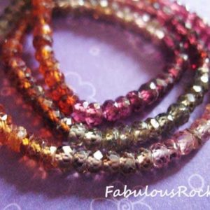 1/2 Strand – TUNDURU Sapphire Tundra Sapphire Rondelle, Faceted –  Luxe AAA, 3-3.5 mm – burgundy gold green berry plum, september birthstone | Natural genuine faceted Sapphire beads for beading and jewelry making.  #jewelry #beads #beadedjewelry #diyjewelry #jewelrymaking #beadstore #beading #affiliate #ad