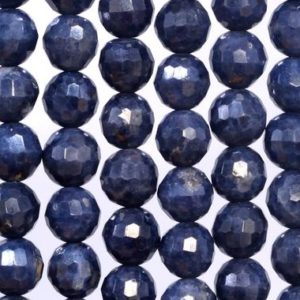 Shop Sapphire Faceted Beads! 60 / 30 Pcs – 6MM Sapphire Beads Grade AA Genuine Natural Micro Faceted Round Gemstone Loose Beads (107443) | Natural genuine faceted Sapphire beads for beading and jewelry making.  #jewelry #beads #beadedjewelry #diyjewelry #jewelrymaking #beadstore #beading #affiliate #ad