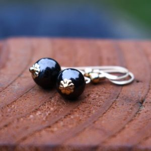 Shop Shungite Earrings! Shungite earrings Emf protection jewelry  Black stone jewelry Dangle gold earrings   Natural genuine Shungite earrings. Buy crystal jewelry, handmade handcrafted artisan jewelry for women.  Unique handmade gift ideas. #jewelry #beadedearrings #beadedjewelry #gift #shopping #handmadejewelry #fashion #style #product #earrings #affiliate #ad