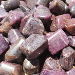 Shop Tumbled Ruby Crystals & Pocket Stones! SIX (6) RUBY TUMBLED Stones Medium/Large Natural Tumble Stones | Natural genuine stones & crystals in various shapes & sizes. Buy raw cut, tumbled, or polished gemstones for making jewelry or crystal healing energy vibration raising reiki stones. #crystals #gemstones #crystalhealing #crystalsandgemstones #energyhealing #affiliate #ad