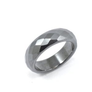 Shop Hematite Rings! Size 6.5, Solid hematite ring, black ring, solid grey ring, hematite ring, stone ring, solid stone ring,  ring | Natural genuine Hematite rings, simple unique handcrafted gemstone rings. #rings #jewelry #shopping #gift #handmade #fashion #style #affiliate #ad