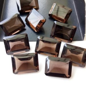 Shop Smoky Quartz Shapes! 10 Pcs Smoky Quartz Emerald Cut Stone, Natural Smoky Quartz Rectangle Cut Loose Gemstone For Jewelry, Brown Stone (9x11mm To 15x20mm Option) | Natural genuine stones & crystals in various shapes & sizes. Buy raw cut, tumbled, or polished gemstones for making jewelry or crystal healing energy vibration raising reiki stones. #crystals #gemstones #crystalhealing #crystalsandgemstones #energyhealing #affiliate #ad