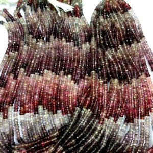 Shop Spinel Faceted Beads! 10 Strand Natural Multi Spinel Faceted Beads Multi Spinel Rondelle Beads Multi Spinel Gemstone Beads 3.mm Spinel Beads Superb Quality | Natural genuine faceted Spinel beads for beading and jewelry making.  #jewelry #beads #beadedjewelry #diyjewelry #jewelrymaking #beadstore #beading #affiliate #ad