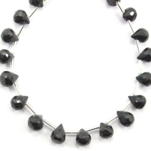 Shop Spinel Bead Shapes! AAA Quality 1 Strand Natural Black Spinel Teardrop Shape Beads, Size 5×6-6×8 MM,Spinel Gemstone, 32 Piece Spinel Making Jewelry Wholesale | Natural genuine other-shape Spinel beads for beading and jewelry making.  #jewelry #beads #beadedjewelry #diyjewelry #jewelrymaking #beadstore #beading #affiliate #ad
