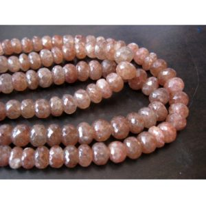 Shop Sunstone Faceted Beads! Sunstone Beads, Faceted Rondelle Beads, 9mm Beads, 75 Pieces Approx, 16 Inch Strand, Wholesale Price | Natural genuine faceted Sunstone beads for beading and jewelry making.  #jewelry #beads #beadedjewelry #diyjewelry #jewelrymaking #beadstore #beading #affiliate #ad