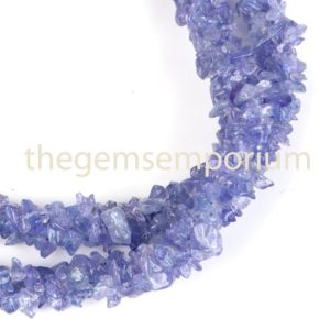 Tanzanite Chips Necklace, Tanzanite Uncut Beads, Tanzanite Chip Beads, Tanzanite Beads, Tanzanite Necklace | Natural genuine chip Tanzanite beads for beading and jewelry making.  #jewelry #beads #beadedjewelry #diyjewelry #jewelrymaking #beadstore #beading #affiliate #ad