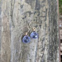 Dainty Tanzanite Earrings. Your Choice Of Sterling Silver, Rose Gold Filled Or 14k Gold Filled. Ships Same Day! Periwinkle Earrings | Natural genuine Gemstone jewelry. Buy crystal jewelry, handmade handcrafted artisan jewelry for women.  Unique handmade gift ideas. #jewelry #beadedjewelry #beadedjewelry #gift #shopping #handmadejewelry #fashion #style #product #jewelry #affiliate #ad