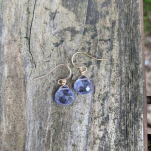 Shop Tanzanite Earrings! Dainty tanzanite earrings. Your choice of sterling silver, rose gold filled or 14k gold filled. Ships same day!  Periwinkle earrings | Natural genuine Tanzanite earrings. Buy crystal jewelry, handmade handcrafted artisan jewelry for women.  Unique handmade gift ideas. #jewelry #beadedearrings #beadedjewelry #gift #shopping #handmadejewelry #fashion #style #product #earrings #affiliate #ad