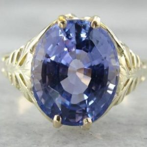 Shop Tanzanite Rings! Violet Tanzanite And Grass Green Gold, Antique Cocktail Ring U9RD6Q-D | Natural genuine Tanzanite rings, simple unique handcrafted gemstone rings. #rings #jewelry #shopping #gift #handmade #fashion #style #affiliate #ad