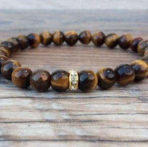 Shop Men's Tiger Eye Bracelets! Tigers eye bracelet – dainty bracelet | Natural genuine Tiger Eye bracelets. Buy crystal jewelry, handmade handcrafted artisan jewelry for women.  Unique handmade gift ideas. #jewelry #beadedbracelets #beadedjewelry #gift #shopping #handmadejewelry #fashion #style #product #bracelets #affiliate #ad
