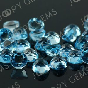 Shop Gemstone Cabochons! Sky Blue Topaz Rose Cut Cabochon 8mm Round – per stone | Natural genuine stones & crystals in various shapes & sizes. Buy raw cut, tumbled, or polished gemstones for making jewelry or crystal healing energy vibration raising reiki stones. #crystals #gemstones #crystalhealing #crystalsandgemstones #energyhealing #affiliate #ad