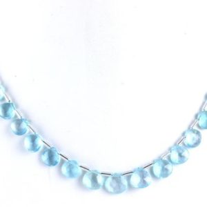 Shop Topaz Bead Shapes! AAA+ Quality  1 Strand Natural Blue Topaz Heart Shape,22 Piece,Birthstone,Topaz Gemstone,8-9MM ,Faceted Topaz,Making Jewelry,Wholesale Price | Natural genuine other-shape Topaz beads for beading and jewelry making.  #jewelry #beads #beadedjewelry #diyjewelry #jewelrymaking #beadstore #beading #affiliate #ad