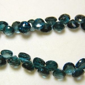 Shop Topaz Bead Shapes! London Blue Topaz Beads, Topaz Onion Briolette Beads, Faceted Briolette Beads, 6mm Each, 15 Pieces, 2 I | Natural genuine other-shape Topaz beads for beading and jewelry making.  #jewelry #beads #beadedjewelry #diyjewelry #jewelrymaking #beadstore #beading #affiliate #ad