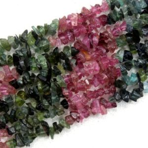 """Shop Tourmaline Chip & Nugget Beads! 16"""" Long Natural Multi Tourmaline Chips Beads,Uncut Beads,Tourmaline Beads,4-5 MM,Jewelry Making,Polished Smooth Beads ,Wholesale Price 