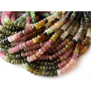 Shop Tourmaline Beads! 5mm Tourmaline Faceted Rondelle Beads, Tourmaline Beads,13 Inch Multi Tourmaline Faceted Rondelle For Jewelry (1Strand To 5Strand Options) | Natural genuine beads Tourmaline beads for beading and jewelry making.  #jewelry #beads #beadedjewelry #diyjewelry #jewelrymaking #beadstore #beading #affiliate #ad
