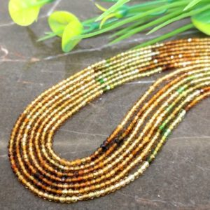 Shop Tourmaline Faceted Beads! WHOLESALE! Natural Petro Tourmaline 2-2.5mm Micro Faceted Rondelle Gemstone Beads / Approx 270 pieces on 16 Inch long strand / JBC-ET-147515 | Natural genuine faceted Tourmaline beads for beading and jewelry making.  #jewelry #beads #beadedjewelry #diyjewelry #jewelrymaking #beadstore #beading #affiliate #ad
