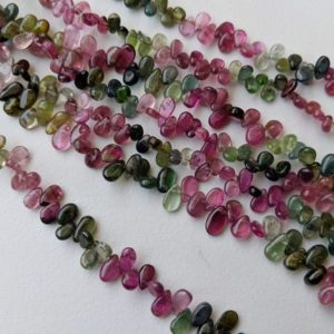 Shop Tourmaline Bead Shapes! 4-5mm Multi Tourmaline Plain Pear Beads, Natural Multi Tourmaline Pear Beads, Multi Tourmaline For Jewelry (4.5IN TO 9IN Options) – ANG141 | Natural genuine other-shape Tourmaline beads for beading and jewelry making.  #jewelry #beads #beadedjewelry #diyjewelry #jewelrymaking #beadstore #beading #affiliate #ad