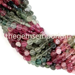 Shop Tourmaline Bead Shapes! Multi Tourmaline Smooth Coin Beads, Tourmaline Coin Beads, Tourmaline Plain Coin, Tourmaline Beads, Tourmaline smooth Beads, | Natural genuine other-shape Tourmaline beads for beading and jewelry making.  #jewelry #beads #beadedjewelry #diyjewelry #jewelrymaking #beadstore #beading #affiliate #ad