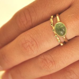 Tourmaline Ring , Green Tourmaline Ring , Gold Tourmaline Ring ,  Cabochon Gemstone Ring , Oval Tourmaline , 14k Gold Ring , Fine Jewelry | Natural genuine Green Tourmaline rings, simple unique handcrafted gemstone rings. #rings #jewelry #shopping #gift #handmade #fashion #style #affiliate #ad