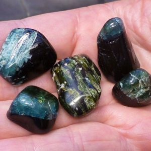 Shop Green Tourmaline Stones & Crystals! Tourmalines tumbled | Natural genuine stones & crystals in various shapes & sizes. Buy raw cut, tumbled, or polished gemstones for making jewelry or crystal healing energy vibration raising reiki stones. #crystals #gemstones #crystalhealing #crystalsandgemstones #energyhealing #affiliate #ad