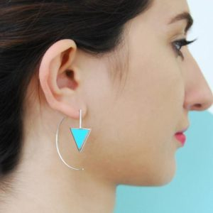 Shop Turquoise Earrings! Gold Earrings, Turquoise Earrings, 925 Hoops, Drop Earrings, Edgy Earrings, Simple Earrings, Rose Earrings, Modern Jewelry, Unusual Earrings | Natural genuine Turquoise earrings. Buy crystal jewelry, handmade handcrafted artisan jewelry for women.  Unique handmade gift ideas. #jewelry #beadedearrings #beadedjewelry #gift #shopping #handmadejewelry #fashion #style #product #earrings #affiliate #ad
