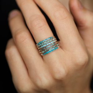 Single Turquoise Ring or Set of 6 Turquoise Rings. Turquoise Band. Turquoise Band Ring. Raw Rough Rustic Genuine Turquoise Wedding Band Ring | Natural genuine Turquoise rings, simple unique alternative gemstone engagement rings. #rings #jewelry #bridal #wedding #jewelryaccessories #engagementrings #weddingideas #affiliate #ad