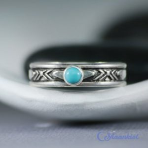 Shop Turquoise Rings! Southwest Mens Ring, Sterling Silver Mens Turquoise Ring, Turquoise Band Ring | Moonkist Designs | Natural genuine Turquoise mens fashion rings, simple unique handcrafted gemstone men's rings, gifts for men. Anillos hombre. #rings #jewelry #crystaljewelry #gemstonejewelry #handmadejewelry #affiliate #ad