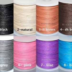 Shop Cord! 1.5mm Wax COTTON Indian Cord by the Yard – Polished Strong Lightly Waxed Cotton Macrame Braiding Beading Wrap Bracelet – Pick your COLOR | Shop jewelry making and beading supplies, tools & findings for DIY jewelry making and crafts. #jewelrymaking #diyjewelry #jewelrycrafts #jewelrysupplies #beading #affiliate #ad