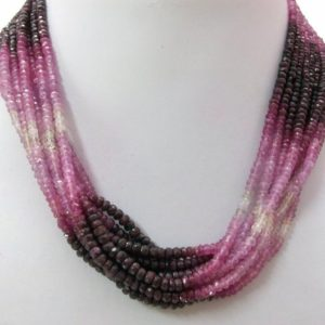 Shop Ruby Rondelle Beads! 1 strand 4.5mm Ruby Rondelle Beads Faceted Gemstone, Natural RUBY Beads Rondelle Shaded Strand, Ruby Shaded Rondelle Faceted Beads Gemstone | Natural genuine rondelle Ruby beads for beading and jewelry making.  #jewelry #beads #beadedjewelry #diyjewelry #jewelrymaking #beadstore #beading #affiliate #ad