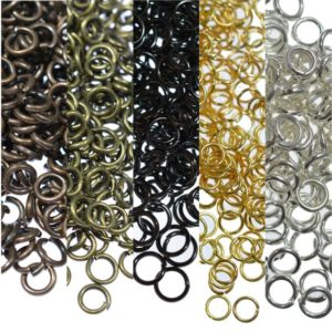 Shop Findings for Jewelry Making! 100/200/500 Jump Rings Metal Open Jewellery Making Findings 3,4,5,6,10mm Silver Gold Bronze Gunmetal Copper | Shop jewelry making and beading supplies, tools & findings for DIY jewelry making and crafts. #jewelrymaking #diyjewelry #jewelrycrafts #jewelrysupplies #beading #affiliate #ad
