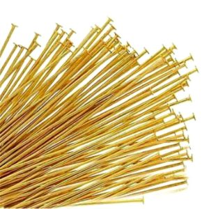 Shop Findings for Jewelry Making! 200 Gold Plated Head Pins, Flat End Pins 1'' 1.5'' 2'' 25mm 38mm 50mm Findings | Shop jewelry making and beading supplies, tools & findings for DIY jewelry making and crafts. #jewelrymaking #diyjewelry #jewelrycrafts #jewelrysupplies #beading #affiliate #ad