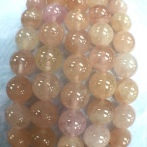 Shop Morganite Round Beads! 10mm Morganite Round Beads, AAAA Quality Beads , Perfect making-Wholesale price- 40 cm Length | Natural genuine round Morganite beads for beading and jewelry making.  #jewelry #beads #beadedjewelry #diyjewelry #jewelrymaking #beadstore #beading #affiliate #ad