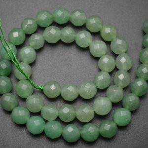 Shop Aventurine Faceted Beads! 10mm Natural Faceted Green Aventurine Jade Stone Round Loose Beads | Natural genuine faceted Aventurine beads for beading and jewelry making.  #jewelry #beads #beadedjewelry #diyjewelry #jewelrymaking #beadstore #beading #affiliate #ad