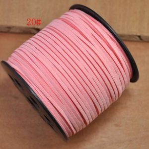 Shop Cord! 10Yard 2.5mm Flat Faux Suede Leather light pink Cords,Faux Suede Lace,bracelet cords,necklace cords,Leather String Cords,DIY Cord Supplies | Shop jewelry making and beading supplies, tools & findings for DIY jewelry making and crafts. #jewelrymaking #diyjewelry #jewelrycrafts #jewelrysupplies #beading #affiliate #ad