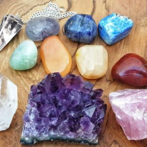 Shop Chakra Stone Sets! 11 pcs Healing Crystals and Stones Chakra Set / Purple Amethyst Cluster, Rose Quartz, and Clear Quartz Gemstone, 7 tumbled stones pendulum | Shop jewelry making and beading supplies, tools & findings for DIY jewelry making and crafts. #jewelrymaking #diyjewelry #jewelrycrafts #jewelrysupplies #beading #affiliate #ad