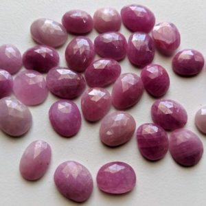 Shop Sapphire Stones & Crystals! 13-15mm Pink Sapphire Rose Cut Cabochons, Pink Sapphire Free Form Shape Faceted Rose Cut Flat Back Cabochons, 5 Pcs – PDG225 | Natural genuine stones & crystals in various shapes & sizes. Buy raw cut, tumbled, or polished gemstones for making jewelry or crystal healing energy vibration raising reiki stones. #crystals #gemstones #crystalhealing #crystalsandgemstones #energyhealing #affiliate #ad