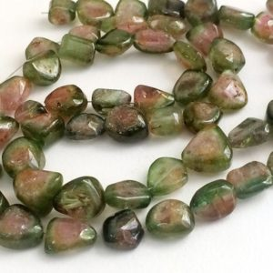 Shop Watermelon Tourmaline Beads! 13 Inch Rare Watermelon Tourmaline Beads, 8-12mm Natural Watermelon Tourmaline Plain Tumble Beads, Tourmaline Statement Necklace – PDG26 | Natural genuine chip Watermelon Tourmaline beads for beading and jewelry making.  #jewelry #beads #beadedjewelry #diyjewelry #jewelrymaking #beadstore #beading #affiliate #ad
