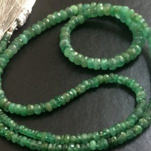 Shop Emerald Rondelle Beads! 2.8-6mm Emerald Faceted Beads, Natural Emerald Faceted Rondelle Beads, Original Emerald Beads For Jewelry (10IN To 20IN Options) – PNG3 | Natural genuine rondelle Emerald beads for beading and jewelry making.  #jewelry #beads #beadedjewelry #diyjewelry #jewelrymaking #beadstore #beading #affiliate #ad