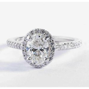 2 Carat WHITE sapphire ring,Natural White sapphire engagement ring. Oval Halo Ring in 18k White Gold | Natural genuine Array rings, simple unique alternative gemstone engagement rings. #rings #jewelry #bridal #wedding #jewelryaccessories #engagementrings #weddingideas #affiliate #ad