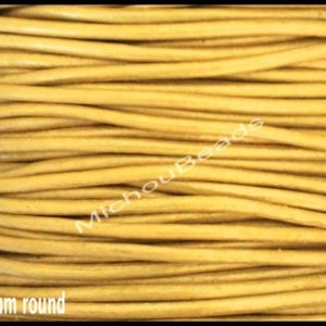 Shop Cord! 2 Yards 1.5mm Round LEATHER Cord – Metallic MUSTARD 6 Feet Genuine Natural Lead free dye Indian Boho Leather Cording By the Yard Wholesale | Shop jewelry making and beading supplies, tools & findings for DIY jewelry making and crafts. #jewelrymaking #diyjewelry #jewelrycrafts #jewelrysupplies #beading #affiliate #ad