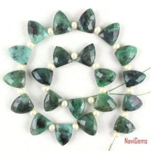Shop Emerald Bead Shapes! 21 Pieces Natural Emerald Briolette,Emerald Necklace,Side Drilled,Emerald Gemstone,9×12-10×14 mm,Emerald Half Marquise,Wholesale Price | Natural genuine other-shape Emerald beads for beading and jewelry making.  #jewelry #beads #beadedjewelry #diyjewelry #jewelrymaking #beadstore #beading #affiliate #ad