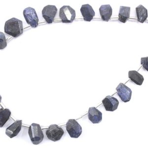 Shop Sapphire Chip & Nugget Beads! 25 Pieces Natural Blue Sapphire Gemstone, High Quality Sapphire Nuggets Beads, Size 6×10-10×13 MM Sapphire Making Jewelry Nuggets Beads | Natural genuine chip Sapphire beads for beading and jewelry making.  #jewelry #beads #beadedjewelry #diyjewelry #jewelrymaking #beadstore #beading #affiliate #ad