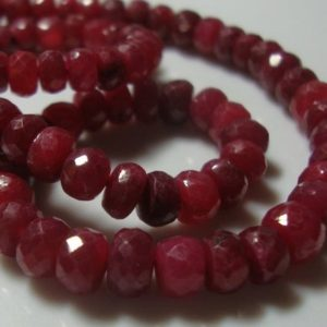 40 beads, 3mm, Ruby Rondelles Beads, Cherry Red Ruby | Natural genuine rondelle Ruby beads for beading and jewelry making.  #jewelry #beads #beadedjewelry #diyjewelry #jewelrymaking #beadstore #beading #affiliate #ad