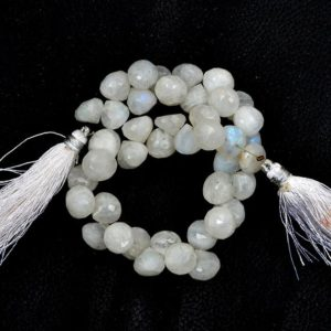 Shop Rainbow Moonstone Bead Shapes! 40 Pieces Natural Rainbow Moonstone Gemstone Beads Onion Beads Moonstone Beads 8 inch Drilled Rainbow Moonstone Faceted beads size 9-10 MM | Natural genuine other-shape Rainbow Moonstone beads for beading and jewelry making.  #jewelry #beads #beadedjewelry #diyjewelry #jewelrymaking #beadstore #beading #affiliate #ad