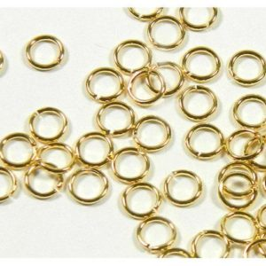 Shop Jump Rings! 40pcs Gold Plated Open Jump Ring 3mm- 7mm | Shop jewelry making and beading supplies, tools & findings for DIY jewelry making and crafts. #jewelrymaking #diyjewelry #jewelrycrafts #jewelrysupplies #beading #affiliate #ad