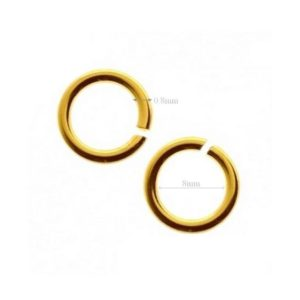 Shop Jump Rings! 4pcs VERMEIL, 24k, gold over Sterling Silver Jump Rings Open Jumpring 8mm Inside Wire 0.8mm 20 Gauge | Shop jewelry making and beading supplies, tools & findings for DIY jewelry making and crafts. #jewelrymaking #diyjewelry #jewelrycrafts #jewelrysupplies #beading #affiliate #ad