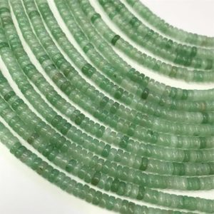 Shop Aventurine Rondelle Beads! 4x2mm Green Aventurine Heishi Beads ,Spacer Beads ,Gemstone Beads | Natural genuine rondelle Aventurine beads for beading and jewelry making.  #jewelry #beads #beadedjewelry #diyjewelry #jewelrymaking #beadstore #beading #affiliate #ad