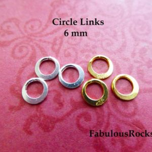 Shop Jump Rings! 5-50 pcs / 6 mm, Circle Links Connectors Closed Jumprings Jump Rings  Wholesale Jewelry Findings Fupplies n57.6plain hp v jr6 sjr6mm vjr6mm | Shop jewelry making and beading supplies, tools & findings for DIY jewelry making and crafts. #jewelrymaking #diyjewelry #jewelrycrafts #jewelrysupplies #beading #affiliate #ad